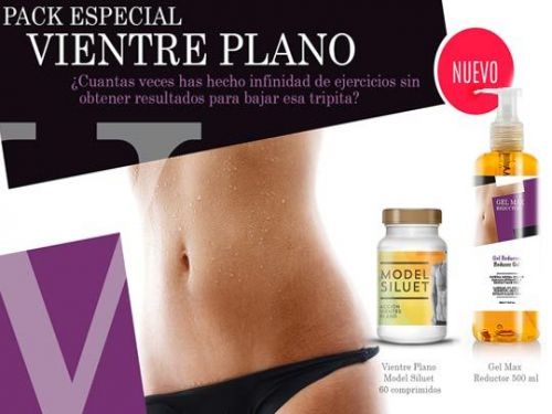 Pack especial Vientre Plano: Model Siluet + GelMAX Reductor